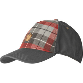 Fjällräven Övik Plaid Cap, dark grey